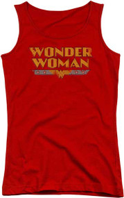 Wonder Woman Logo Juniors Tank Top