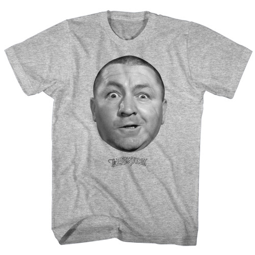 Mens The Three Stooges Curly Face Tee Shirt