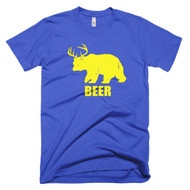 Bear Plus Deer Equals Beer Short Sleeve Mens T-Shirt