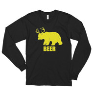 Bear Plus Deer Equals Beer Long sleeve t-shirt (unisex)