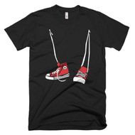 Made in the USA Mens Step Brothers Hi Tops Inspired Tee Shirt