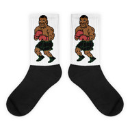 Tyson Punchout Inspired Black Foot Socks