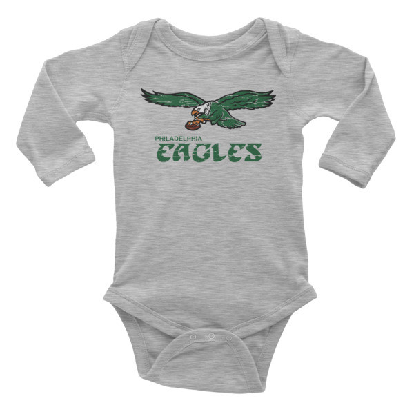 f2612ad4d Philadelphia Eagles Old School Inspired Infant long sleeve one-piece ...