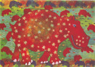 African Greeting Card. 'Hippopotamus' by Phillipa-Alys Browne