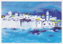 African Art Card. 'Essaouira' by Maggie Jones