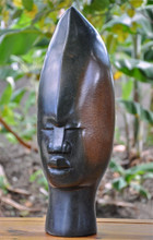 Shona Sculpture | 'Kore Kore Tribal Head' by Joseph Chatsama