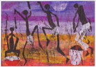 African Greeting Card 'Leap into Summer' by Jocelyn Rossiter