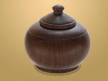 Ebony Pot. Handcrafted from African Ebony Wood
