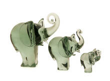 Recycled Glass Elephants from Ngwenya Glass Swaziland Africa