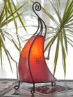 Moroccan Henna Lamp - Red Berber Design
