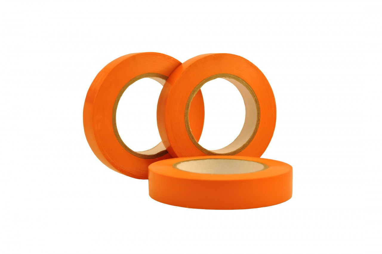 Orange Vinyl Flexible Exterior Masking Tape 60 Day Clean Removal