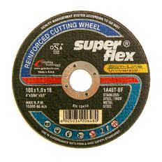 Super Flex Thin Inox A46T Cut Off Wheels 100 x 1.6 x 16