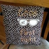 Love at first sight square pillow