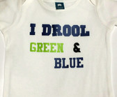 I Drool Green and Blue Seahawks BURP CLOTH