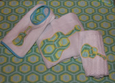 Guitar Music Burp cloth (2) and washcloth set