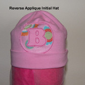"Reverse Applique ""Initial"" Beanie Hat"