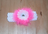 Boa Flower Headband