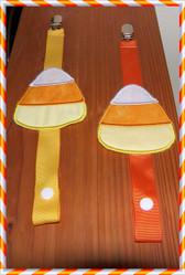 Candy Corn Binkie Clip