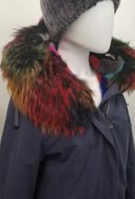 Multicolor mink lined Jacket