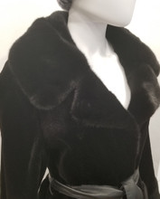 Black Dyed shared Mink Jacket