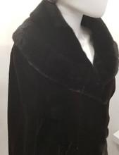 Black with Burgundy Dyed Mink Jacket
