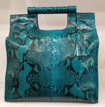 Glazed turquoise python Front Cut Resort bag
