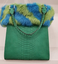 Green Python and Rabbit shopping bag