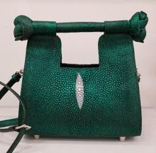 Green hologram stingray mini resort bag