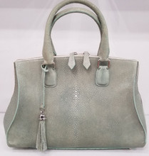 Green polished stingray bell Bag