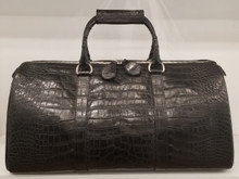 American Alligator Black duffle Bag