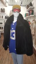 Mens Black Dyed fox jacket