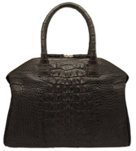 Italo - Alligator Bowling Bag - Dark Brown