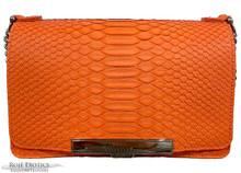 Convertible Chain Bag -  Python - Orange Matte