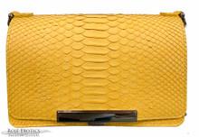 Convertible Chain Bag -  Python - Yellow Matte