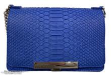 Convertible Chain Bag -  Python - Blue Matte