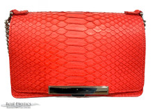 Convertible Chain Bag -  Python - Red Matte