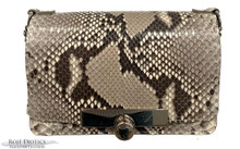 Convertible Chain Bag -  Python - Unbleached  Glazed