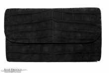 Seamless  - American  Alligator -Black - Suede
