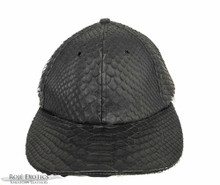 Women's Size Black Matte Full Python Base Ball Hat
