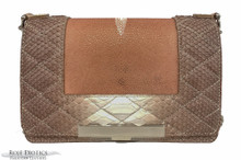 Convertible Chain Bag -  Quilted Python & Stingray Center