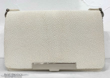 Convertible Chain Bag -  Caviar Stingray - White