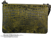 Convertible Chain Bag -  Nile Crocodile - 2 Tone Cognac Matte