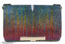 Convertible Chain Bag -  Caviar Stingray - Rainbow Hologram