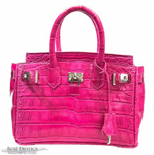 Classic 25 - American Alligator - Pink Millennium Finish
