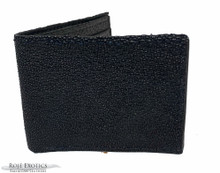 Bifold Wallet - Black - Caviar Finish (Amish Made)