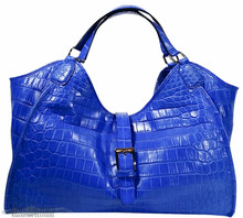 Colette - Nile Crocodile - Royal Blue Matte Waxy