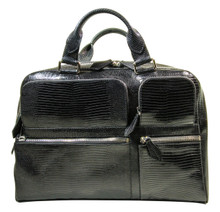 Messenger Bag - Black Lizard