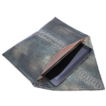 Kennedy - Python Oversized Envelope Clutch with Cushioned iPad Compartment