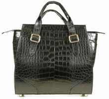 Trapeze Media - Alligator with Matte Waxy Finish in Black