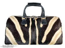Aino - Duffel Bag - Zebra and Black American  Alligator